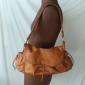 Kooba Boho Gpsy Shoulder Bag  Leather Congnac